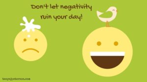 Negativity is ever present, but we don't have to let it hurt us. It's possible to shift our perspective, take action, and keep negativity from ruining the day