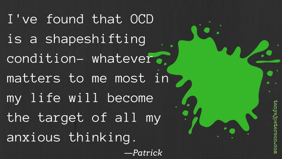 What is OCD like to live with? It is a shapshifting disorder. Learn how people with OCD describe it. Is there hope for overcoming OCD?